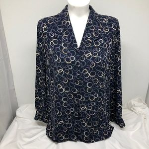 Alfred Dunner Size 18W V-Neck Blouse - A0882
